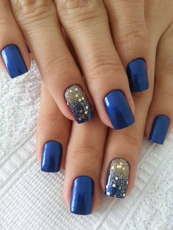 glitter-nail-art-ideas-187 89+ Glitter Nail Art Designs for Shiny & Sparkly Nails