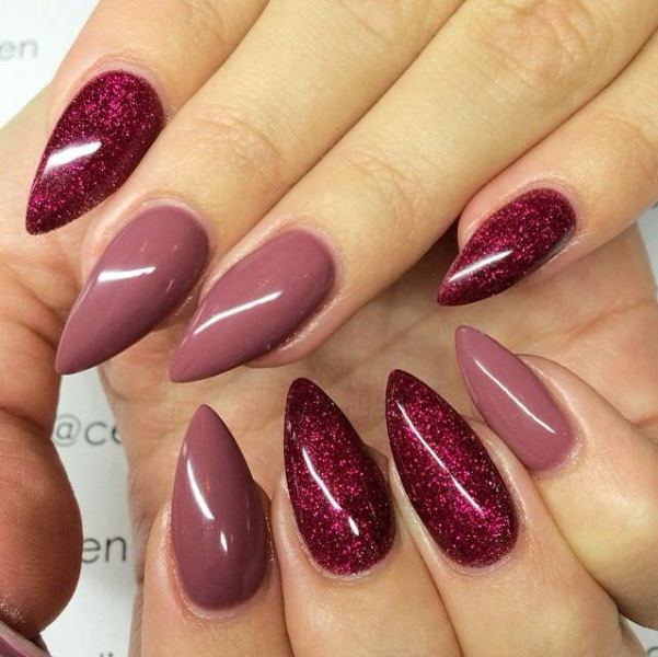 glitter-nail-art-ideas-190 89+ Glitter Nail Art Designs for Shiny & Sparkly Nails