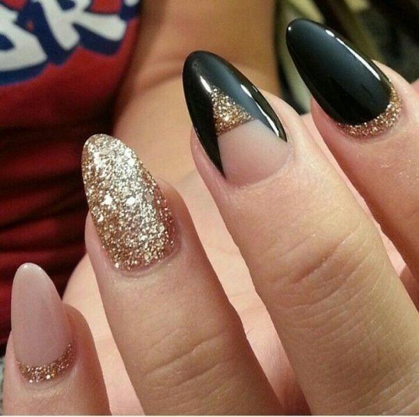 glitter-nail-art-ideas-191 89+ Glitter Nail Art Designs for Shiny & Sparkly Nails
