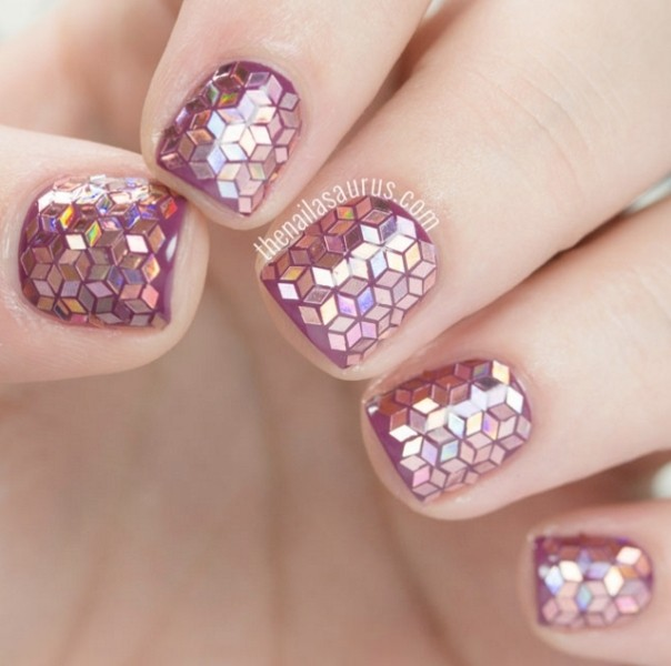 glitter-nail-art-ideas-194 89+ Glitter Nail Art Designs for Shiny & Sparkly Nails