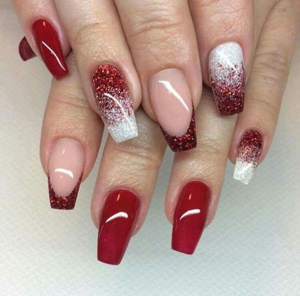 glitter-nail-art-ideas-195 89+ Glitter Nail Art Designs for Shiny & Sparkly Nails