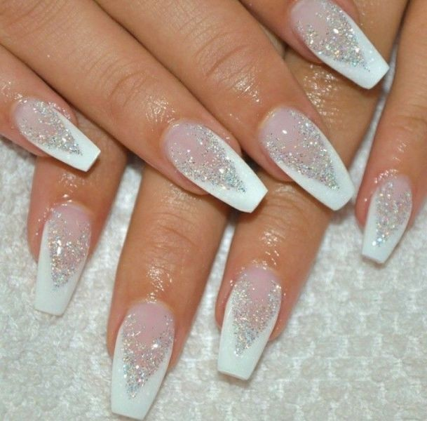 glitter-nail-art-ideas-196 89+ Glitter Nail Art Designs for Shiny & Sparkly Nails