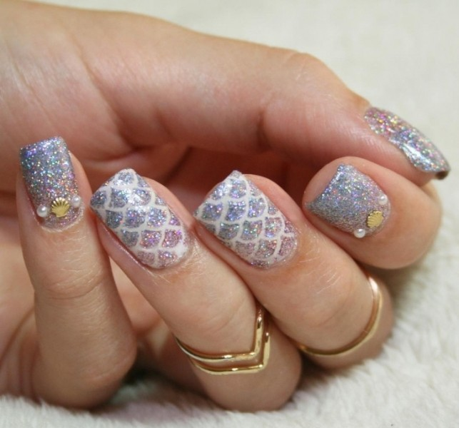 glitter-nail-art-ideas-199 89+ Glitter Nail Art Designs for Shiny & Sparkly Nails