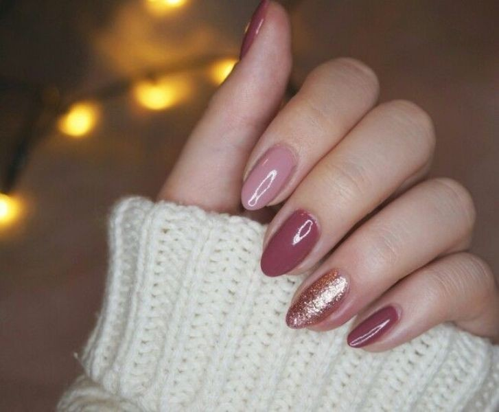 glitter-nail-art-ideas-202 89+ Glitter Nail Art Designs for Shiny & Sparkly Nails