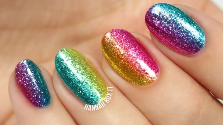 glitter-nail-art-ideas-203 89+ Glitter Nail Art Designs for Shiny & Sparkly Nails