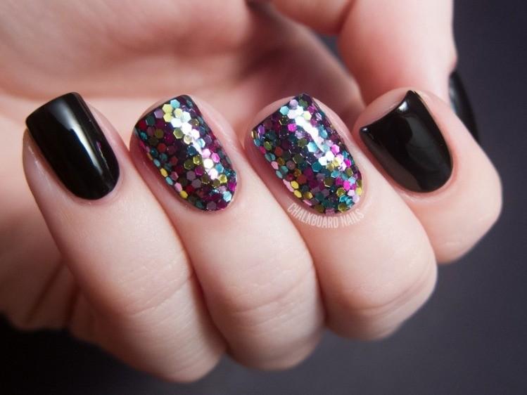 glitter-nail-art-ideas-207 89+ Glitter Nail Art Designs for Shiny & Sparkly Nails