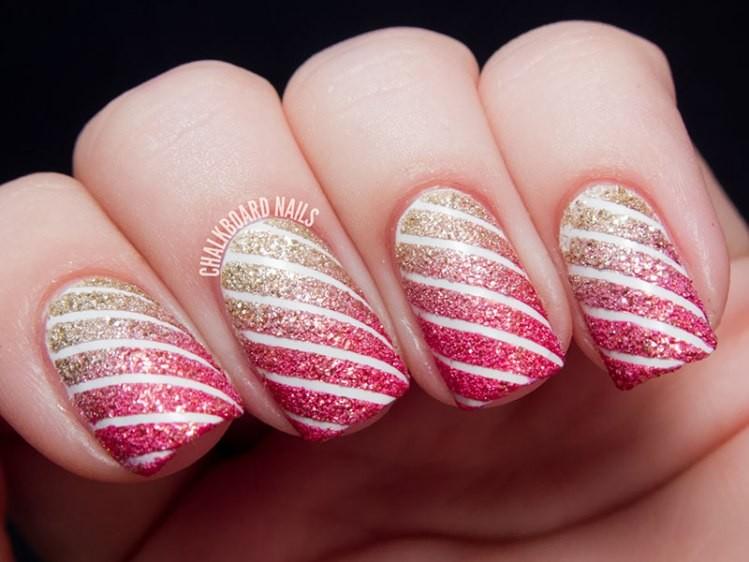 glitter-nail-art-ideas-210 89+ Glitter Nail Art Designs for Shiny & Sparkly Nails