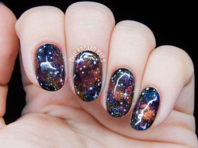 glitter-nail-art-ideas-212 89+ Glitter Nail Art Designs for Shiny & Sparkly Nails