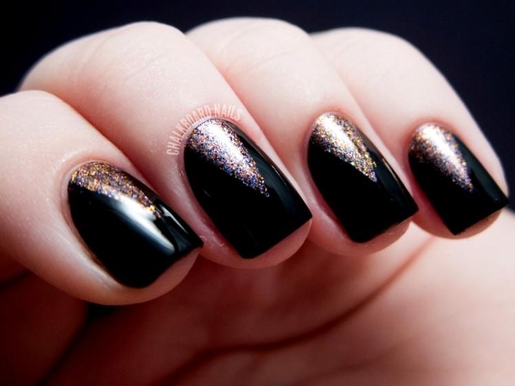 glitter-nail-art-ideas-213 89+ Glitter Nail Art Designs for Shiny & Sparkly Nails