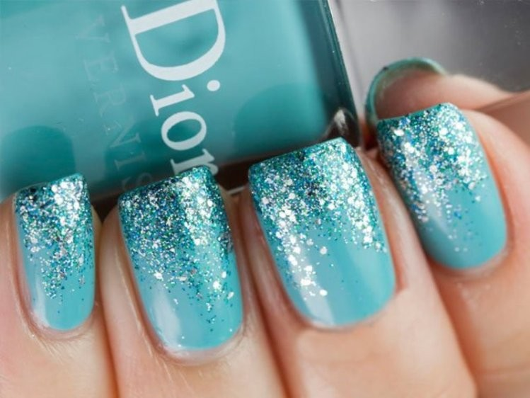 glitter-nail-art-ideas-215 89+ Glitter Nail Art Designs for Shiny & Sparkly Nails