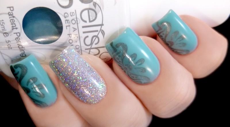 glitter-nail-art-ideas-216 89+ Glitter Nail Art Designs for Shiny & Sparkly Nails