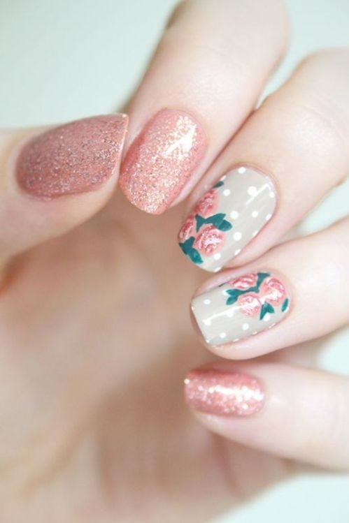 glitter-nail-art-ideas-22 89+ Glitter Nail Art Designs for Shiny & Sparkly Nails
