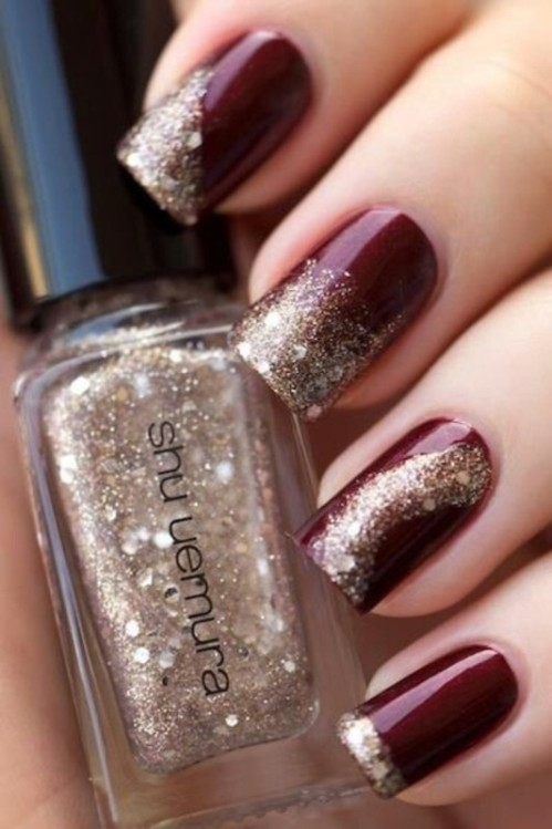 glitter-nail-art-ideas-23 89+ Glitter Nail Art Designs for Shiny & Sparkly Nails