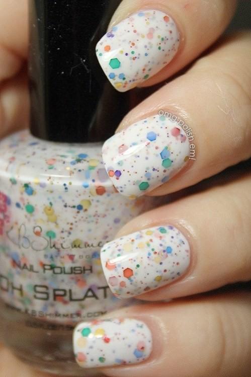 glitter-nail-art-ideas-26 89+ Glitter Nail Art Designs for Shiny & Sparkly Nails