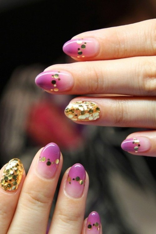 glitter-nail-art-ideas-31 89+ Glitter Nail Art Designs for Shiny & Sparkly Nails