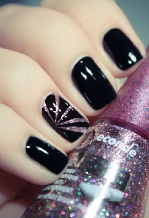 glitter-nail-art-ideas-36 89+ Glitter Nail Art Designs for Shiny & Sparkly Nails
