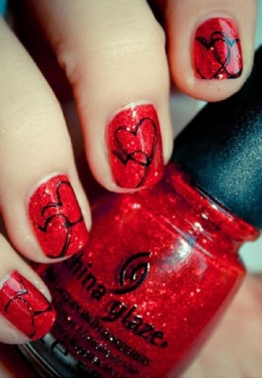 glitter-nail-art-ideas-37 89+ Glitter Nail Art Designs for Shiny & Sparkly Nails
