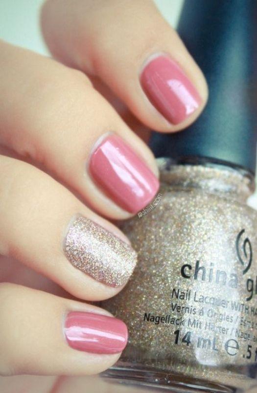 glitter-nail-art-ideas-38 89+ Glitter Nail Art Designs for Shiny & Sparkly Nails