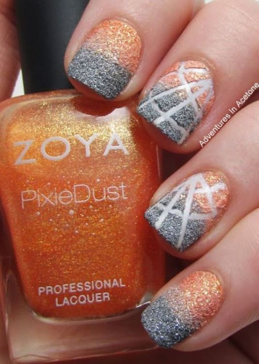 glitter-nail-art-ideas-40 89+ Glitter Nail Art Designs for Shiny & Sparkly Nails