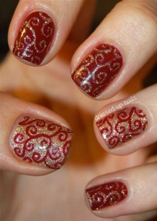 glitter-nail-art-ideas-41 89+ Glitter Nail Art Designs for Shiny & Sparkly Nails