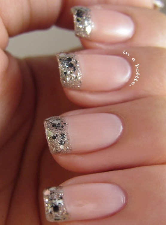 glitter-nail-art-ideas-43 89+ Glitter Nail Art Designs for Shiny & Sparkly Nails
