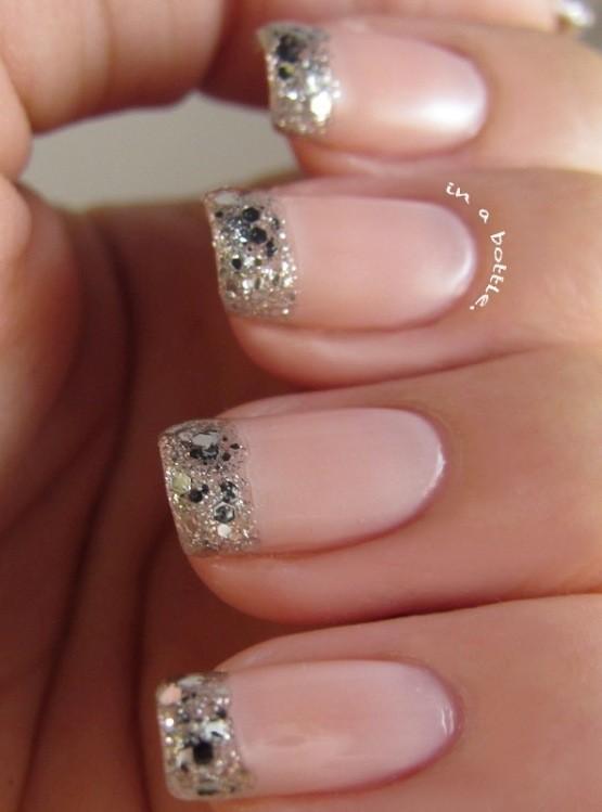 glitter-nail-art-ideas-43 89+ Glitter Nail Art Designs for Shiny & Sparkly Nails