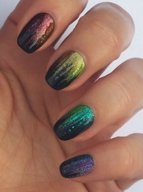 glitter-nail-art-ideas-44 89+ Glitter Nail Art Designs for Shiny & Sparkly Nails