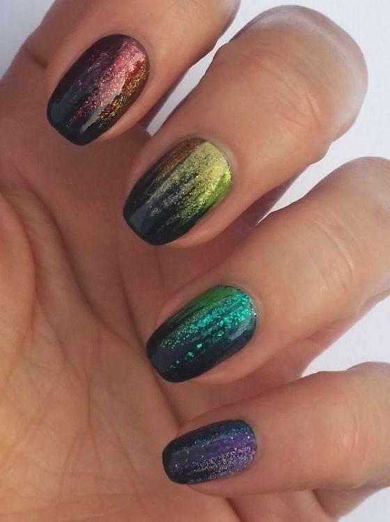glitter-nail-art-ideas-44 89+ Glitter Nail Art Designs for Shiny & Sparkly Nails