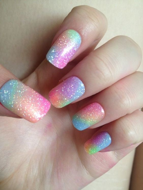 glitter-nail-art-ideas-46 89+ Glitter Nail Art Designs for Shiny & Sparkly Nails