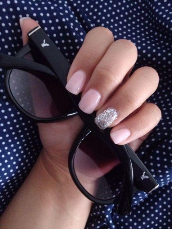 glitter-nail-art-ideas-48 89+ Glitter Nail Art Designs for Shiny & Sparkly Nails