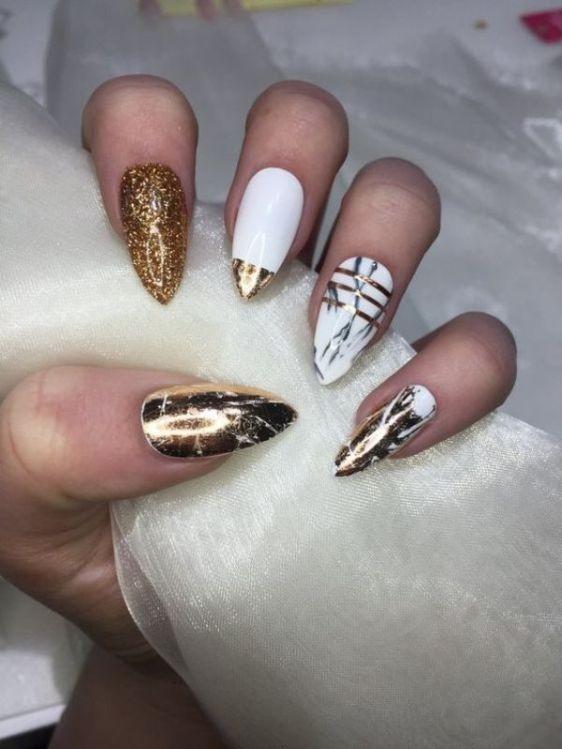 glitter-nail-art-ideas-49 89+ Glitter Nail Art Designs for Shiny & Sparkly Nails