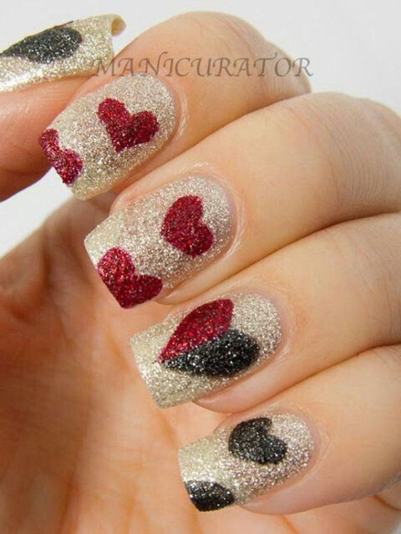 glitter-nail-art-ideas-53 89+ Glitter Nail Art Designs for Shiny & Sparkly Nails