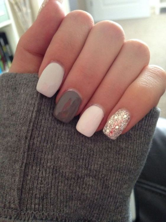 glitter-nail-art-ideas-54 89+ Glitter Nail Art Designs for Shiny & Sparkly Nails