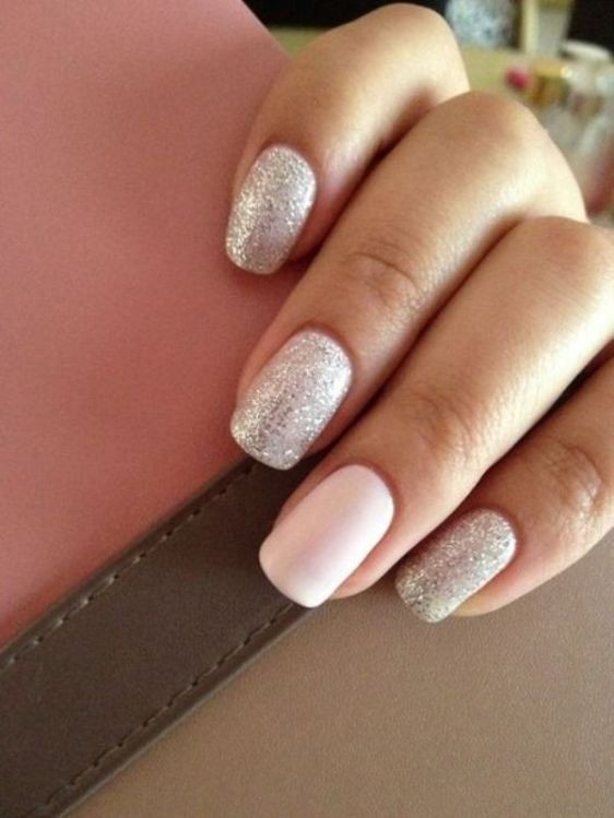 glitter-nail-art-ideas-55 89+ Glitter Nail Art Designs for Shiny & Sparkly Nails
