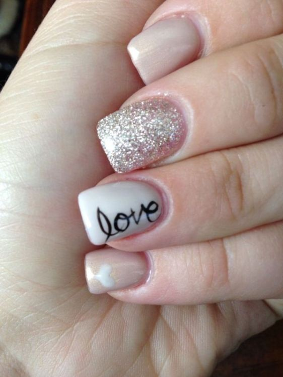 glitter-nail-art-ideas-56 89+ Glitter Nail Art Designs for Shiny & Sparkly Nails