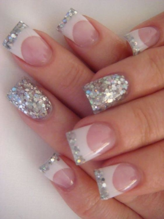 89 Glitter Nail Art Designs For Shiny Sparkly Nails Pouted Com