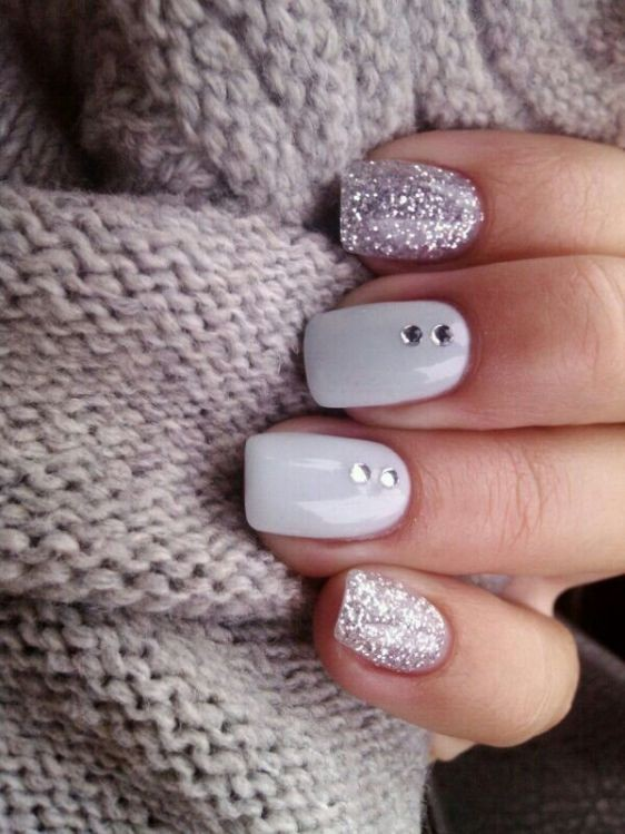 glitter-nail-art-ideas-61 89+ Glitter Nail Art Designs for Shiny & Sparkly Nails