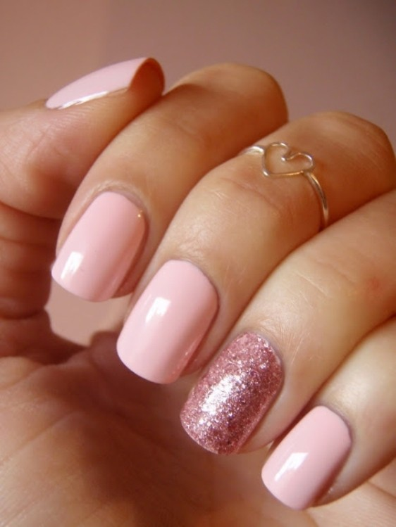 glitter-nail-art-ideas-63 89+ Glitter Nail Art Designs for Shiny & Sparkly Nails
