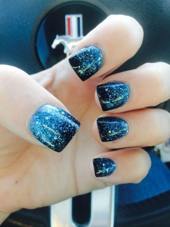 glitter-nail-art-ideas-64 89+ Glitter Nail Art Designs for Shiny & Sparkly Nails