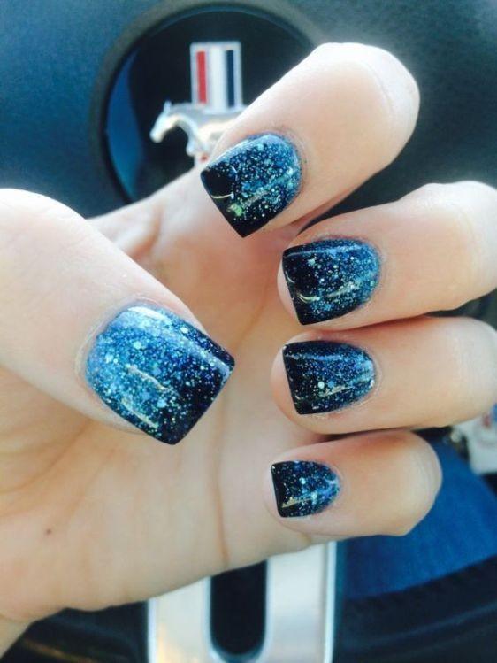glitter-nail-art-ideas-64 89+ Glitter Nail Art Designs for Shiny & Sparkly Nails