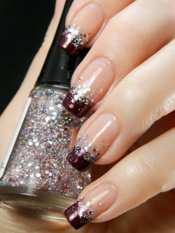 glitter-nail-art-ideas-66 89+ Glitter Nail Art Designs for Shiny & Sparkly Nails