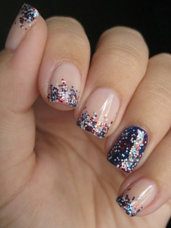 glitter-nail-art-ideas-67 89+ Glitter Nail Art Designs for Shiny & Sparkly Nails