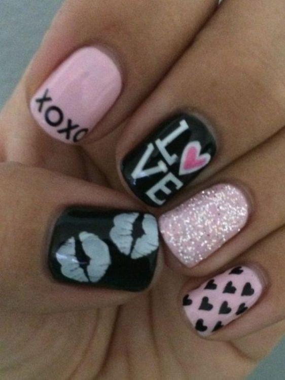 glitter-nail-art-ideas-68 89+ Glitter Nail Art Designs for Shiny & Sparkly Nails
