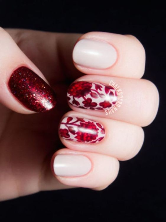 glitter-nail-art-ideas-69 89+ Glitter Nail Art Designs for Shiny & Sparkly Nails