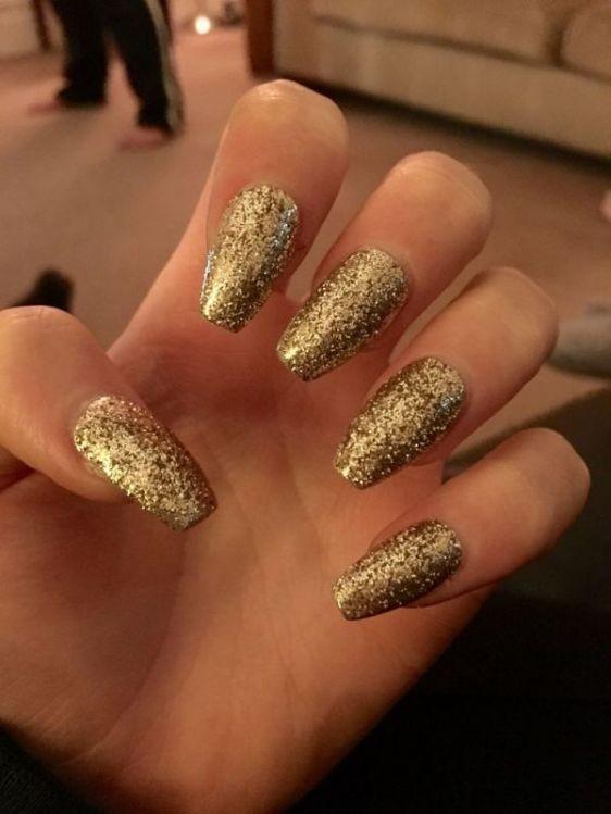 glitter-nail-art-ideas-70 89+ Glitter Nail Art Designs for Shiny & Sparkly Nails