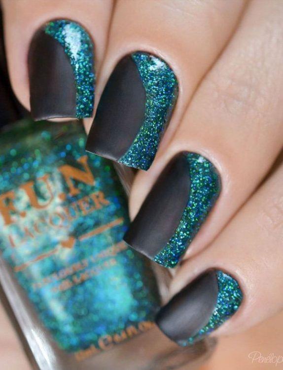 glitter-nail-art-ideas-72 89+ Glitter Nail Art Designs for Shiny & Sparkly Nails