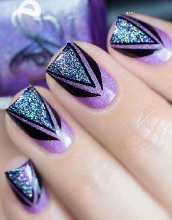 glitter-nail-art-ideas-75 89+ Glitter Nail Art Designs for Shiny & Sparkly Nails