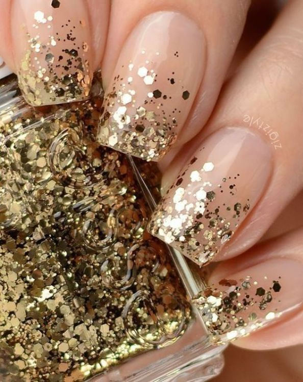 glitter-nail-art-ideas-77 89+ Glitter Nail Art Designs for Shiny & Sparkly Nails