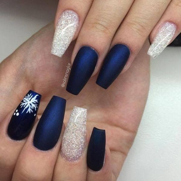glitter-nail-art-ideas-81 89+ Glitter Nail Art Designs for Shiny & Sparkly Nails