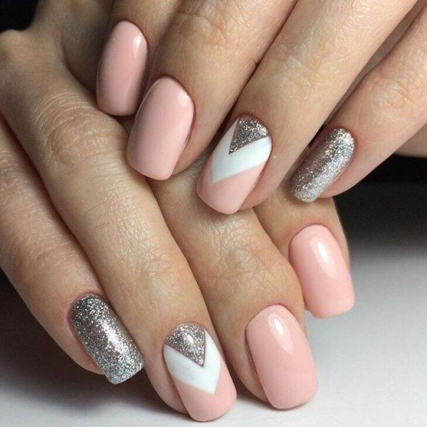 glitter-nail-art-ideas-82 89+ Glitter Nail Art Designs for Shiny & Sparkly Nails